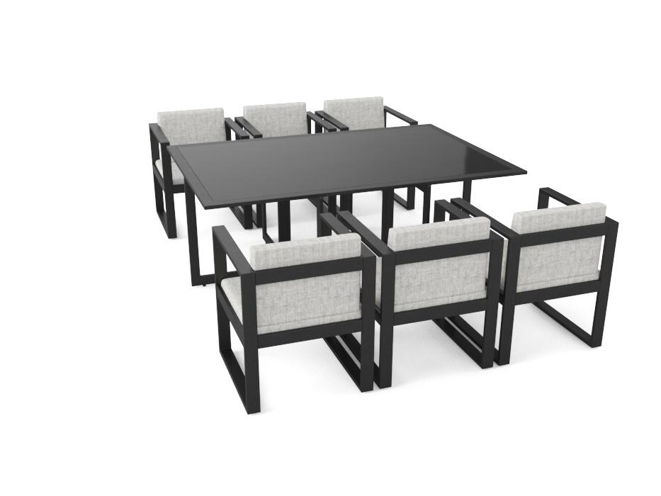 Artelia Jetzt Aluminium Esstischset Ricardo Für 6 Personen Kaufen