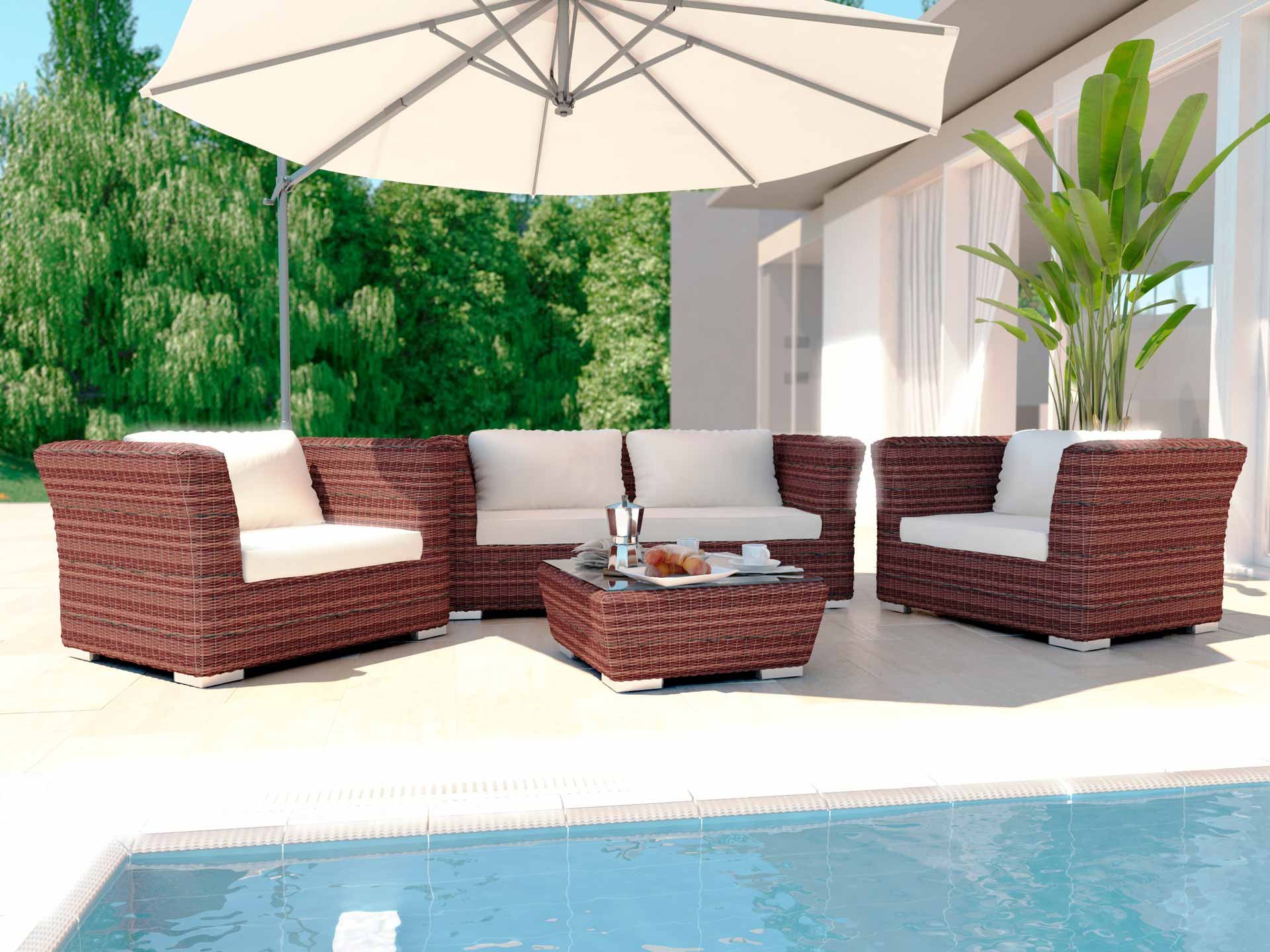 artelia terrassenm bel sitzgruppe rigantona m aus polyrattan. Black Bedroom Furniture Sets. Home Design Ideas