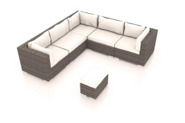 Radomi M - Polyrattan Bank Set