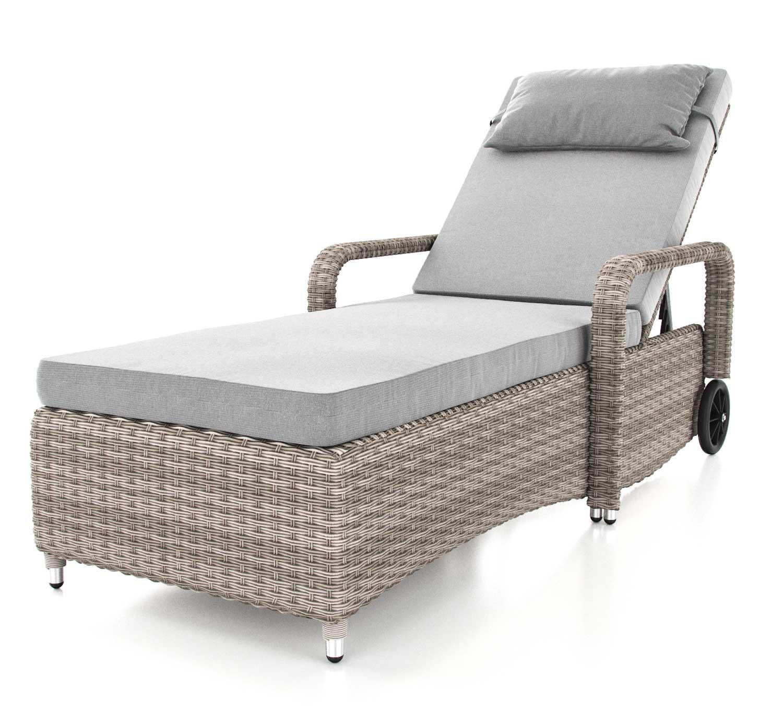 artelia geschwungene rattanliegen aus polyrattan f r. Black Bedroom Furniture Sets. Home Design Ideas