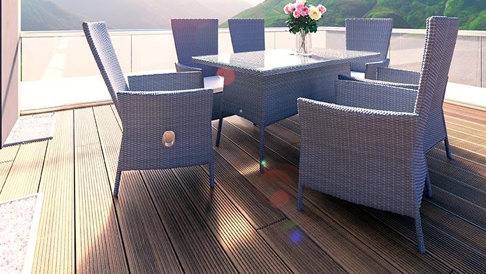 artelia rattan esstisch set und essgruppen aus polyrattan g nstig kaufen. Black Bedroom Furniture Sets. Home Design Ideas