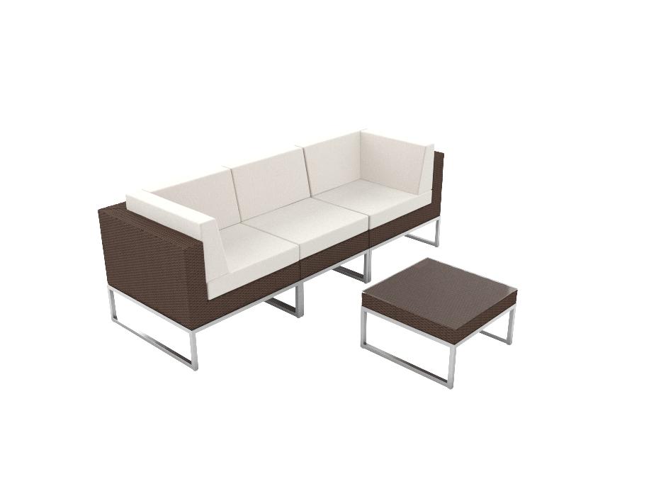 ARTELIA | Rattan Polyrattan Couch Alivera XS für Garten und Terrasse