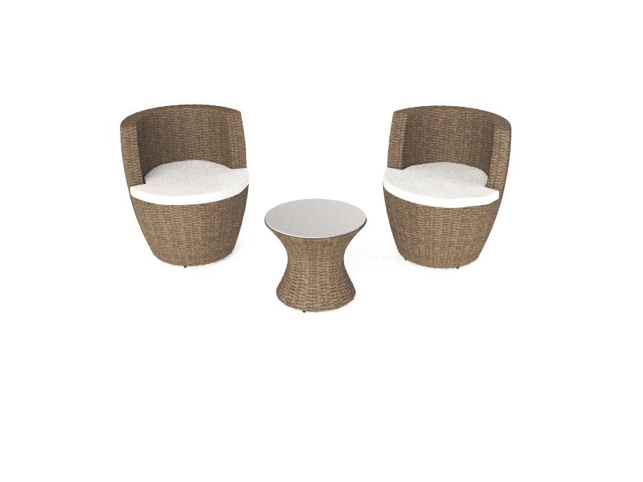 Rattan set  ARTELIA | Vase - stapelbares Rattan Set in Vasen-Form wie ein ...