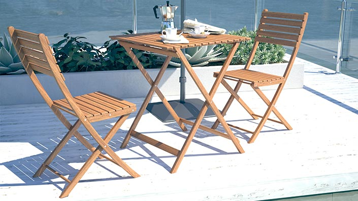 Tinero - Balkon Möbel Set